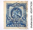 "MEXICO - CIRCA 1929: A stamp printed in Mexico shows ""5 cinco"", series, circa 1929 - stock photo"