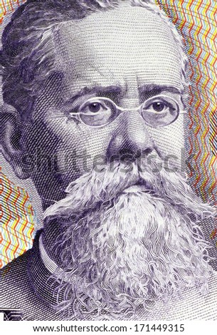 MEXICO - CIRCA 1982: Venustiano Carranza (1859-1920) on 100 Pesos 1982 Banknote from Mexico. One of the leaders of the Mexican Revolution. - stock photo