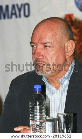 MEXICO CITY - APRIL 6: Mr. Adolfo Garcia Minutti attends Festival Music for the Earth Music Fest press conference at El Lunario Concert Hall April 6, 2009 in Mexico City. - stock photo