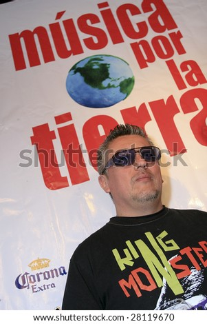 MEXICO CITY- APRIL 6: The Concords member Mauricio Claveria poses for photographers at Festival Music for the Earth Music Fest press conference at El Lunario Concert Hall April 6, 2009 in Mexico City. - stock photo