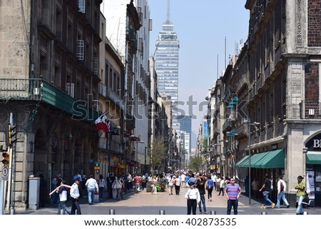 Mexico city - 08/04/2016 - Francisco I. Madero street