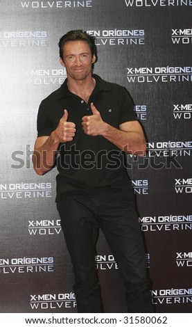 MEXICO CITY-MAY 26: Actor Hugh Jackman (Logan/Wolverine) attends the X-MEN ORIGINS: WOLVERINE Mexico City Red Carpet Premier at Auditorio Nacional at Mexico,City.,Mexico May 26, 2009 - stock photo