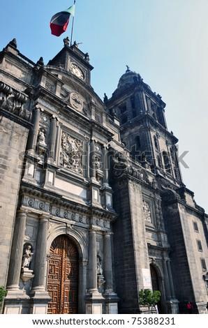 Mexico City Metropolitan Cathedral - stock photo