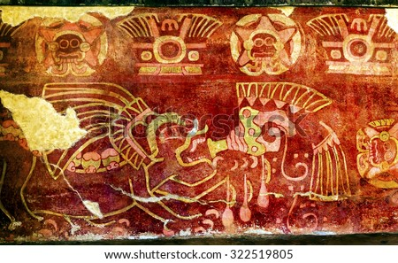 Mexico city mexico december 25 2014 ancient drinking for Archaeological monuments in india mural paintings