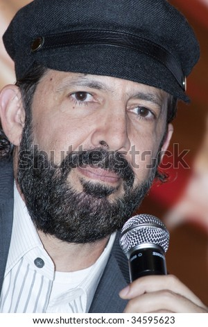 "MEXICO CITY, MEXICO- JULY 31: Singer Juan Luis Guerra attends His Latest  World Wide Tour ""La Travesia (THe Journey),"" press conference at Camino Real Hotel July 31, 2009, in Mexico, City, Mexico."