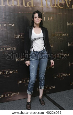 "MEXICO CITY-NOV 3: Actress Kristen Stewart as""Bella Swan"" attends the premiere for  ""The Twilight saga: New Moon"" Photo Call at 4 Seasons Hotel Mexico in November 3th 2009; Mexico City, Mexico.. - stock photo"