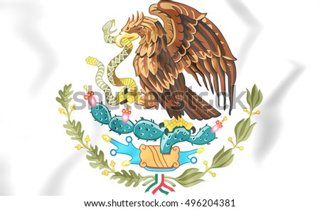 Mexico coat of arms. 3D Illustration.