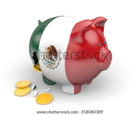 Mexico economy and finance concept for poverty and national debt - stock photo