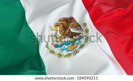 Mexico Flag - stock photo