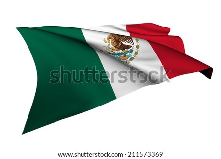 Mexico flag - collection no_5  - stock photo