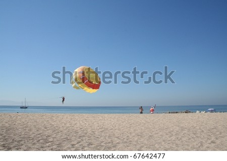 Mexico Parasailing - stock photo