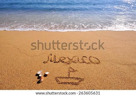 Mexico summer beach - stock photo