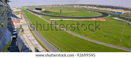 Meydan Racecource. Dubai, UAE. - stock photo