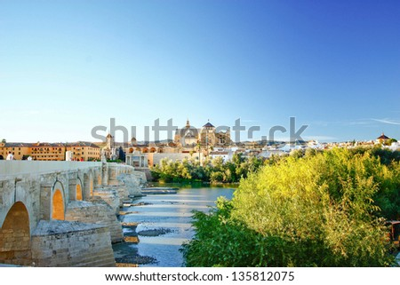 Mezquita (The Great Mosque) of Cordoba , Andalusia , Spain - stock photo