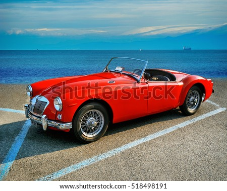 Vintage Roadster Stock Images Royalty Free Images Vectors