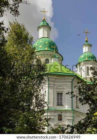 Mgarskiy orthodox male monastery. Famous place near Lubny of Poltava region. Ukraine. - stock photo