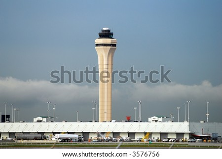 Miami airport tower - stock photo