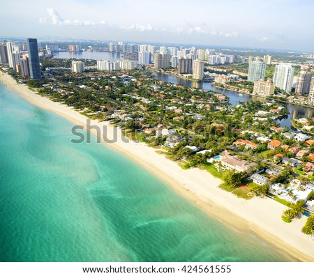 Miami Beach aerial view, Florida