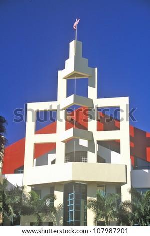 Miami Beach Convention Center located in the Art-Deco District of Miami Beach, Miami, Florida - stock photo