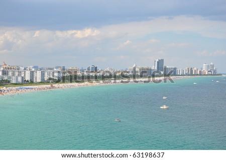 Miami Beach in Florida - stock photo