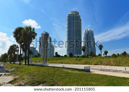 Miami Beach Luxury Real Estate - stock photo