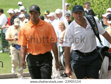 MIAMI, FEBRUARY 22, 2007 - Tiger Woods at the World Golf Championship, Doral Golf Course, Miami, Florida, February 22, 2007. - stock photo