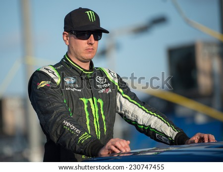 MIAMI, FL - Nov 15: Kyle Busch at the Nascar Nationwide Ford Ecoboost 300 race at Homestead-Miami, FL on November 15, 2014 - stock photo