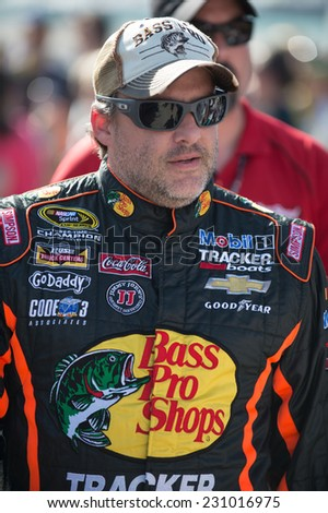 MIAMI, FL - Nov 16: Tony Stewart at the Nascar Sprint Cup Ford Ecoboost 400 race at Homestead-Miami Raceway in Homestead, FL on November 16, 2014