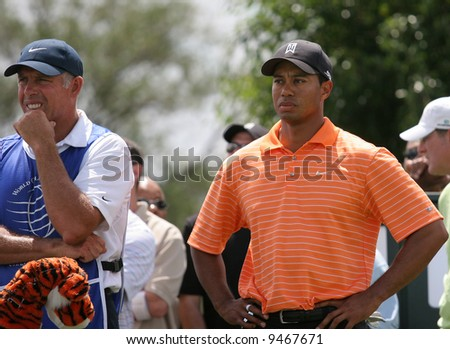 MIAMI, FLORIDA, USA - FEBRUARY 22 : Tiger Woods at World golf championship, Doral, Miami, FEB 22, 2007, Florida - stock photo