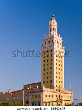 Miami Freedom Tower, Historical Symbol of Cuban Immigration - stock photo