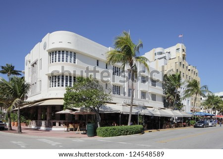 MIAMI - JANUARY 12: The Cordozo hotel is Owned by International Superstar Gloria Estefan and her Grammy Award winning producer-husband, Emilio January 12, 2013 in Miami, Florida. - stock photo