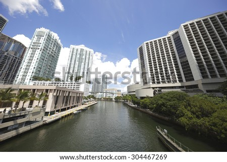 Miami River - stock photo