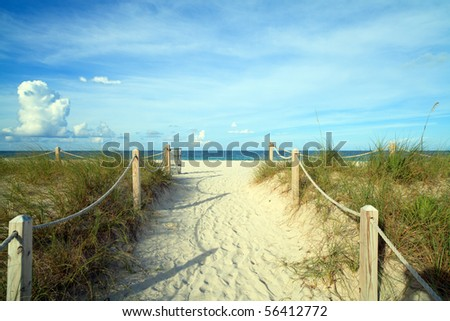 Miami's South Beach Nature Trail - stock photo