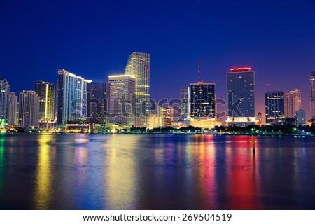 Miami Skyline, Florida - stock photo