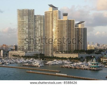 Miami Skyline in Florida, USA - stock photo