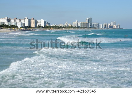 Miami South Beach, Florida USA - stock photo
