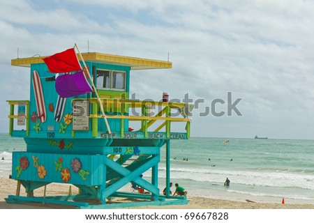 Miami South Beach 441 in Florida - stock photo