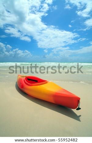 Miami South Beach Kayak on Shoreline - stock photo
