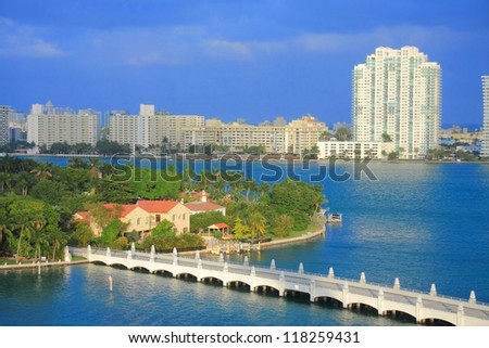 Miami town in day time ,Florida , USA. - stock photo