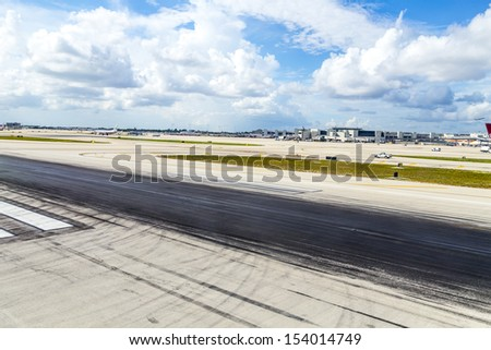 MIAMI, USA - AUGUST 7: Miami international Airport on August 7, 2013 in Miami, USA. The Airport , also known as MIA and historically Wilcox Field, is the primary airport serving Florida area.