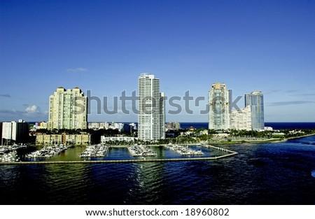 Miami Waterfront - stock photo