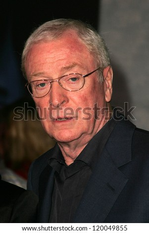 """Michael Caine at the World Premiere of """"The Prestige"""". El Capitan Theater, Hollywood, CA. 10-17-06 - stock photo"""