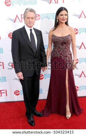 Michael Douglas and Catherine Zeta-Jones at the 37th Annual AFI Lifetime Achievement Awards. Sony Pictures Studios, Culver City, CA. 06-11-09 - stock photo
