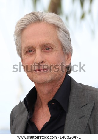 Michael Douglas at the 66th Cannes Film Festival -Behind the Candelabra - photocall, Cannes, France. 21/05/2013 - stock photo