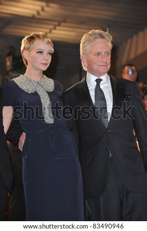 "Michael Douglas & Carey Mulligan at the premiere screening of his movie ""Wall Street: Money Never Sleeps"" at the 63rd Festival de Cannes. May 14, 2010 Cannes, France Picture: Paul Smith / Featureflash"