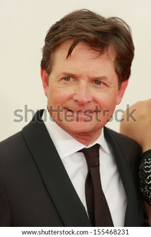Michael J. Fox at the 65th Primetime Emmy Awards at the Nokia Theatre, LA Live. September 22, 2013  Los Angeles, CA - stock photo