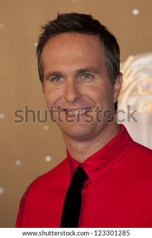 Michael Vaughan arriving for the Strictly Come Dancing 2012 Launch, Television Centre, London. 11/09/2012 Picture by: Simon Burchell - stock photo