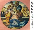 "Michelangelo Buonarroti ""Holy Family"". Reproduction from illustrated Encyclopedia «Art galleries of Europe», Partnership «M. O. Wolf», St. Petersburg - Moscow, Russia , 1901 - stock photo"