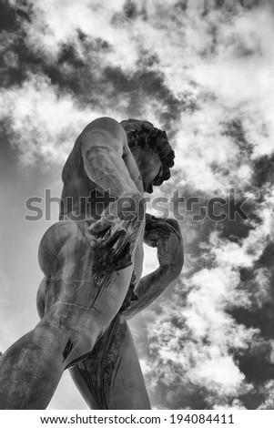 Michelangelo's David, Piazzale Michelangelo, Florence, Italy.  - stock photo