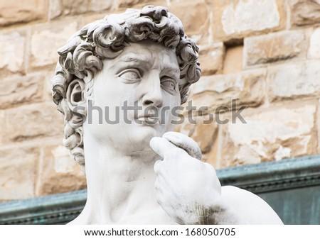 Michelangelo's replica David statue. Florence, Italy - stock photo